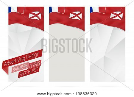 Design Of Banners, Flyers, Brochures With Flag Of Wallis And Futuna.