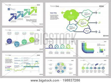Infographic design set can be used for workflow layout, diagram, annual report, presentation, web design. Business and teamwork concept with process, line and flow charts.