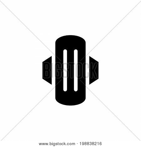 Sanitary napkin icon isolated on white. Vector illustration