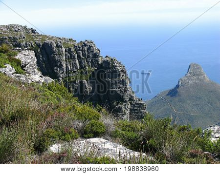 Table Mountain view from the top overlooking Lion's Head 36cfg