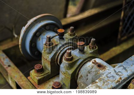 Old sand washing machine from East Germany