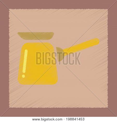 flat shading style icon coffee arabic Turk