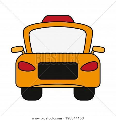 taxi frontview icon image vector illustration design