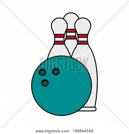 bowling pins and ball icon image vector illustration design