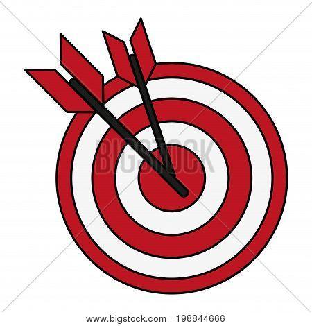 bullseye with dart icon image vector illustration design