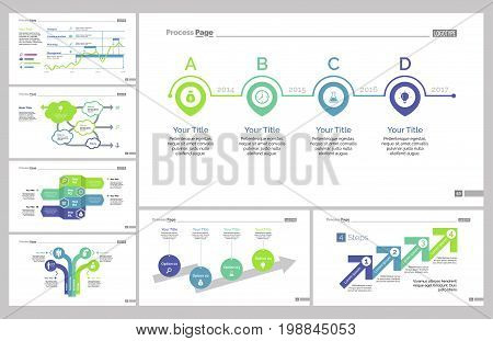 Infographic design set can be used for workflow layout, diagram, annual report, presentation, web design. Business and development concept with process, line and flow charts.