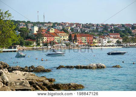 Seafront Of Njivice With Hotel Jadran