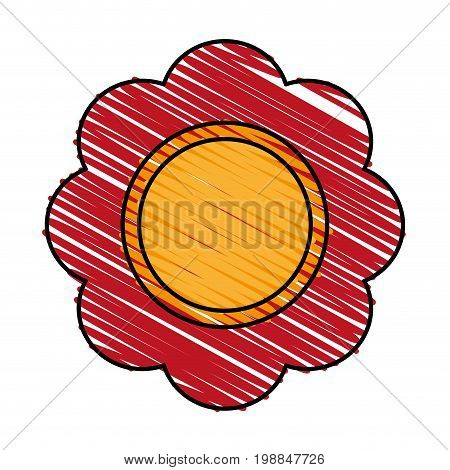 flower pin with water funny or joke item icon image vector illustration scribble