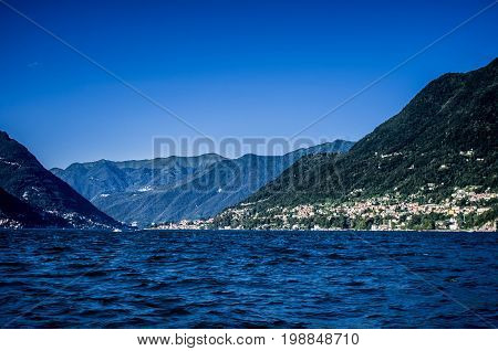 Beautiful View of Lago di Como, Italy. Lake Como in Italy.