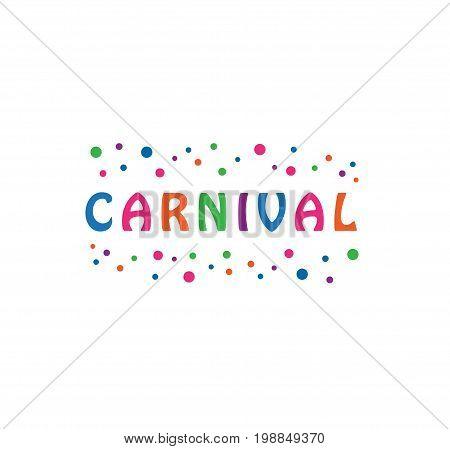 Vector - Carnival Festival Celebration Logo, Isolated On White Background. Vector Illustration.