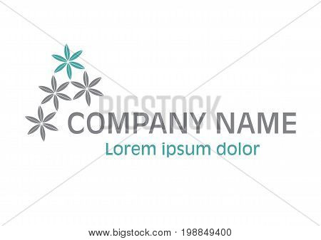 Vector - Flowers Logo, Isolated On White Background. Vector Illustration.