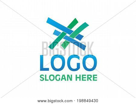 Vector - Unity Logo, Isolated On White Background. Vector Illustration.