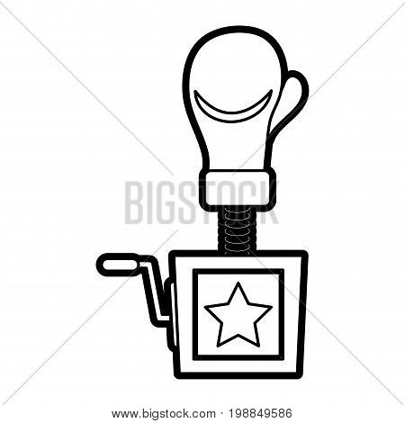 surprise box with boxing glove funny or joke item icon image vector illustration paint