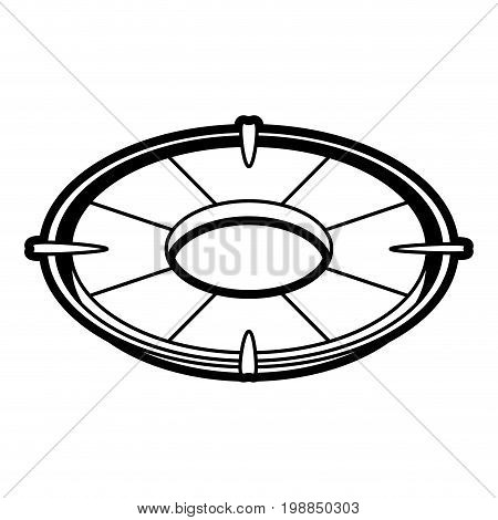 life preserver icon image vector illustration paint