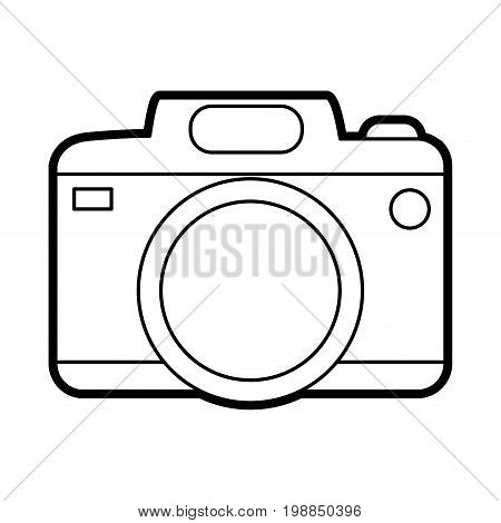 photographic camera icon image vector illustration paint