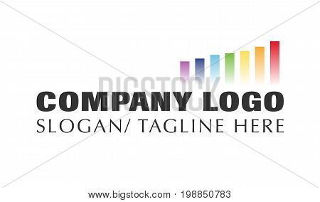 Vector - Finance Business Company Modern Logo, Isolated On White Background. Vector Illustration.
