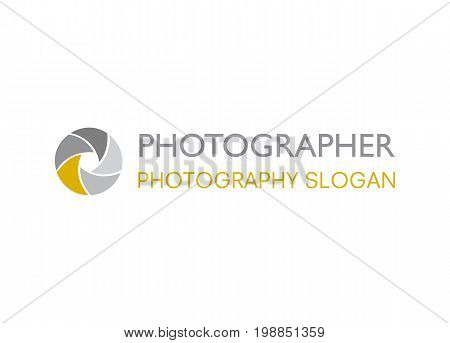 Vector - Camera Shutter Logo, Isolated On White Background. Vector Illustration.