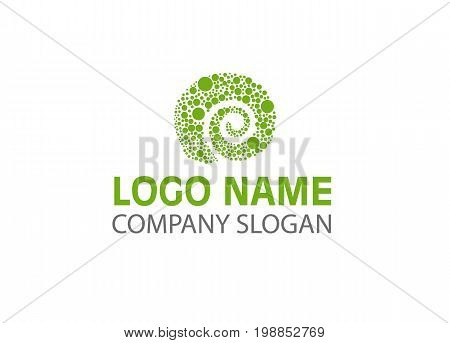 Vector - Creative chameleon or lizard logo design. Clean and modern logo flat style design vector.