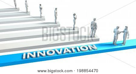 Innovation as a Skill for A Good Employee 3D Illustration Render
