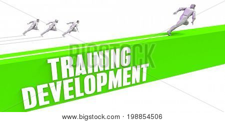 Training Development as a Fast Track To Success 3D Illustration Render