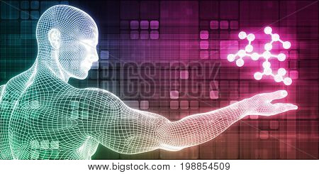 Medical Research or Scientist Conducting an Experiment 3D Illustration Render