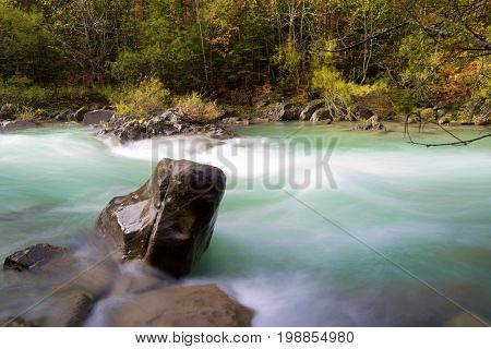 Arazas river in Ordesa National Park, Pyrenees, Huesca Province, Aragon, Spain.