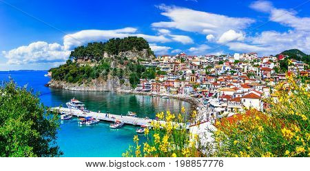 Beautiful colorful towns of Greece - Parga. Popular for summer vacations