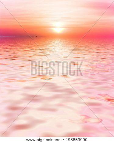 Evening Afterglow Pink Sunset