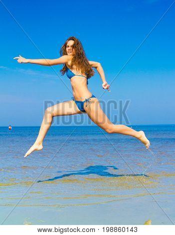 Carefree Happiness Rushing Girl