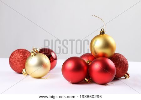 Delicate Christmas ornaments,Isolated on white background