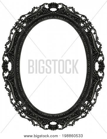 Baroque oval frame isolated on white, included clipping path