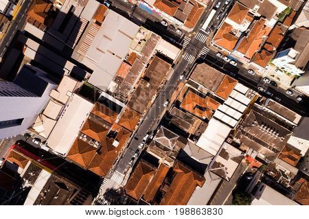 Top View of Streets of a City by Drone