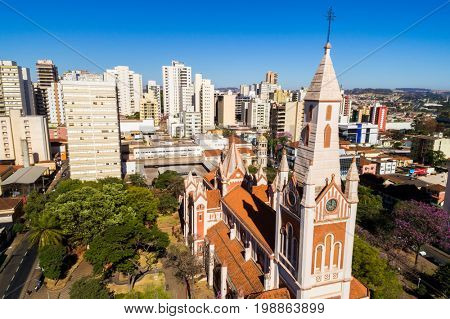 Aerial View of Ribeirao Preto city in Sao Paulo, Brazil