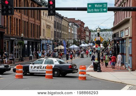 NORWALK-AUGUST 6: SONO Arts Fest in downtown see in Norwalk , CT on August 6, 2017.
