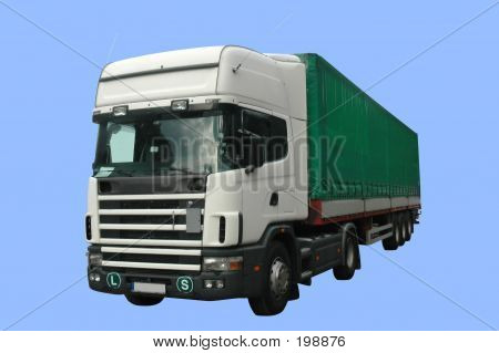 Transportation Truck - Tir (isolated) With Clipping Path