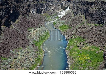 Malad Gorge is located in Southern Idaho near the town of Hagerman.