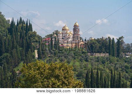 View to the New Athos Monastery of Saint Simon the Zealot