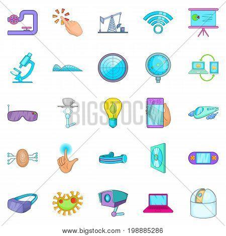 Progressive icons set. Cartoon set of 25 progressive vector icons for web isolated on white background