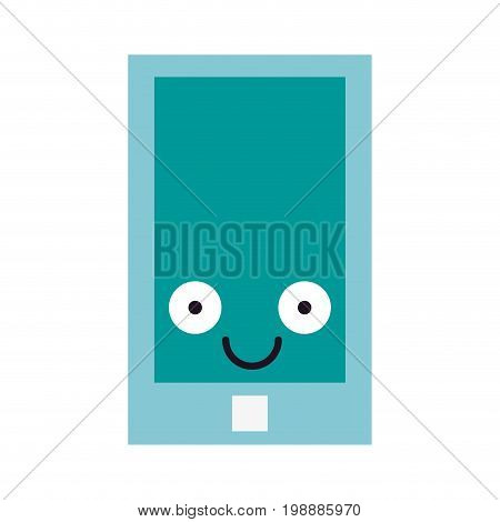 smartphone cellphone icon image cartoon character vector illustration design