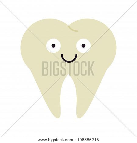molar tooth healthcare related icon image cartoon character vector illustration design
