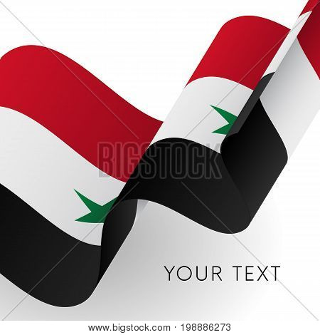 Syria waving flag. Patriotic design. Vector illustration.