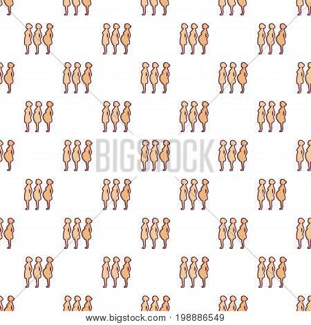 Pregnant period pattern in cartoon style. Seamless pattern vector illustration