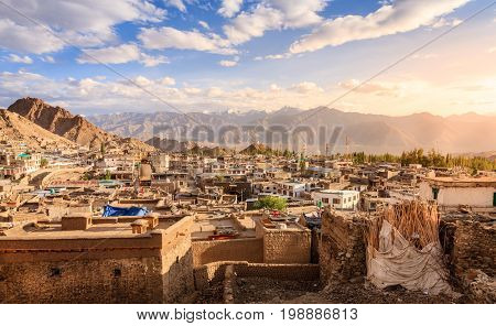 City of Leh, capital of Ladakh, India