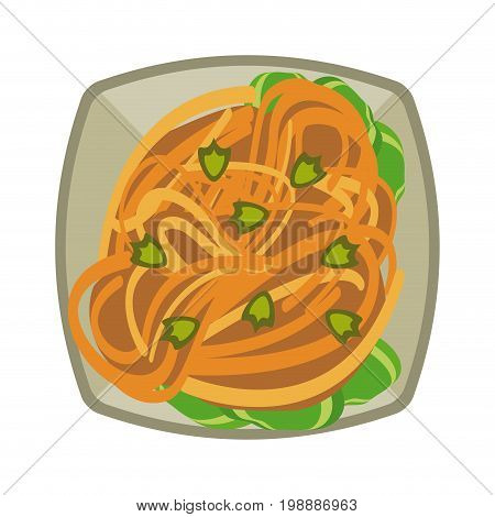spaguetti or noodles food icon image vector illustration design