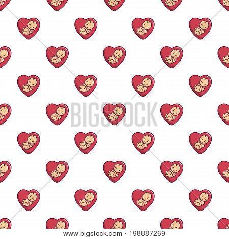 Baby love pattern in cartoon style. Seamless pattern vector illustration
