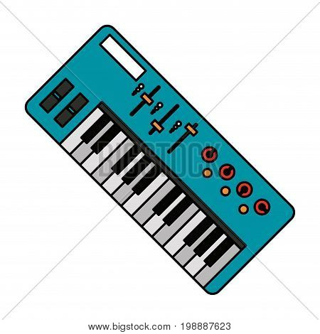 keyboard musical instrument icon image vector illustration design