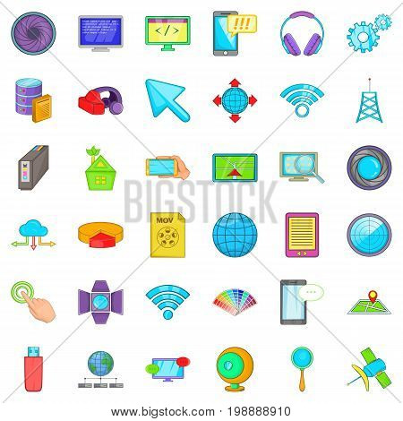 Web growth icons set. Cartoon style of 36 web growth vector icons for web isolated on white background