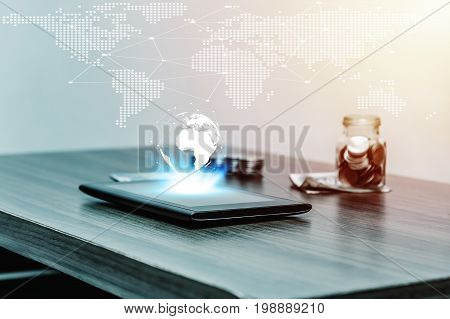 Online Banking And Internet Banking And Technology Network Concept