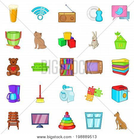 Chamber icons set. Cartoon set of 25 chamber vector icons for web isolated on white background