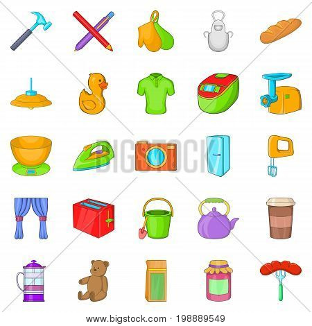 Lodgings icons set. Cartoon set of 25 lodgings vector icons for web isolated on white background